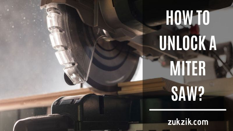 How to Unlock a Miter Saw That 100% WORKING!